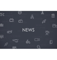News Thin Line Icons vector image