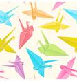 origami paper cranes vector image