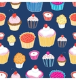 Pattern color delicious cakes vector image vector image