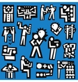 people teamwork - set icons vector image vector image