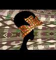 portrait african woman wears bandana hair curly vector image vector image