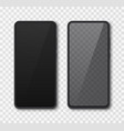 realistic smartphone mock up set mobile phone vector image vector image