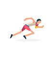 runner athlete running vector image vector image
