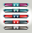 scoreboard football elements vector image vector image