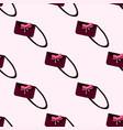 seamless pattern of women s handbags vector image