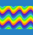 seamless pattern with rainbow wave vector image