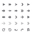 set of universal arrows vector image vector image