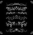 set ornate page decor ornaments patterns divider vector image