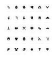 set simple icons baseball vector image vector image