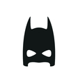 simple black super hero mask icon on white vector image