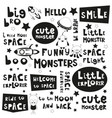 space phrases vector image
