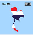 thailand map border with flag eps10 vector image