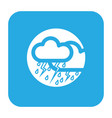 thin line thunderstorm icon vector image vector image