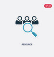 two color resource icon from strategy concept vector image vector image