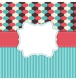Vintage Background with Retro Frame vector image vector image