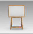 wooden brown sienna art board easel vector image