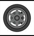car wheel with disc brake vector image