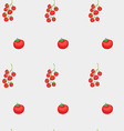 tomatoes and cherry pattern vector image