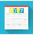 2017 calendar template vector image