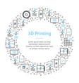 3d printing banner card circle vector image vector image