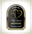 50 years Anniversary label vector image