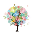 Abstract decorative tree vector image vector image