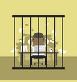 african businessman working in the prison vector image