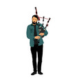 bagpiper musician performer music artist vector image vector image