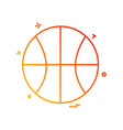 basket ball icon design vector image vector image