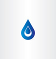 blue logo drop of water icon vector image vector image