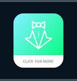 bow heart love suit tie wedding mobile app button vector image