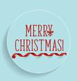 Christmas Greeting Card with Merry Christmas vector image