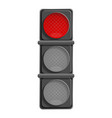 city red traffic light icon cartoon style vector image