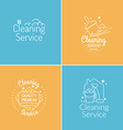 Cleaning Service Logo Set vector image vector image