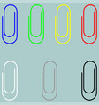 clip blue green yellow red white grey black icon vector image vector image