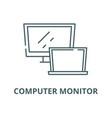 computer monitor line icon linear concept vector image