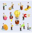 crowdfunding icons set vector image