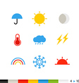 Different flat design web icons vector image