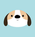 dog face head round icon white puppy pooch cute vector image vector image