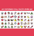 doodle christmas icons set vector image vector image