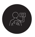 electrocardiogram black concept icon vector image