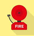 fire alarm icon flat style vector image