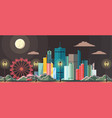 flat style modern design night city vector image vector image