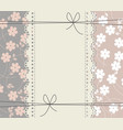 greeting card with copy space flowers and lace vector image vector image