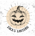 halloween hand drawn pumpkin jacks lantern vector image vector image