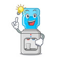 have an idea modern water cooler isolated on vector image vector image
