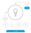 Ice cream icon Sweet dessert in waffle cone vector image