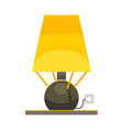 isolated object lamp and lampshade symbol vector image