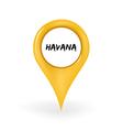 Location Havana vector image