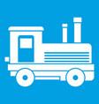locomotive icon white vector image vector image